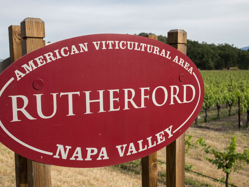 Rutherford, California Welcome Sign
